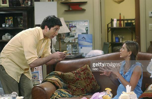 FRIENDS The One With The Baby Shower Episode 20 Aired 4/25/2002 Pictured David Schwimmer as Ross Geller Jennifer Aniston as Rachel Green Photo by...