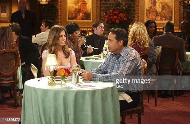 FRIENDS 'The One With The Blind Dates' Episode 14 Aired 2/6/2003 Pictured Jennifer Aniston as Rachel Green Jon Lovitz as Steve Photo by NBCU Photo...