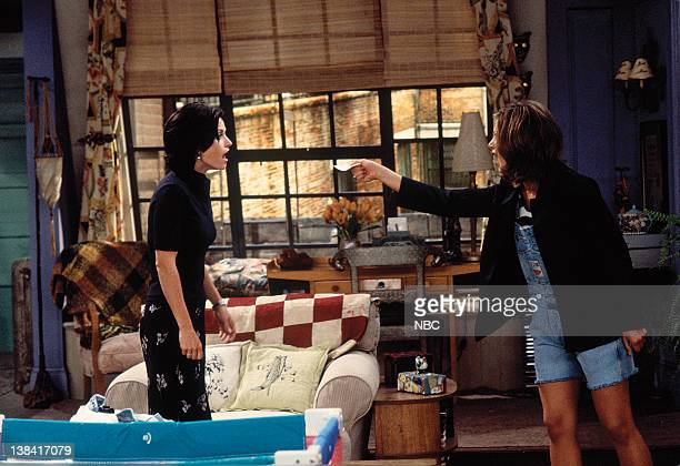 FRIENDS The One With the Breast Milk Episode 2 Pictured Courteney Cox as Monica Geller Jennifer Aniston as Rachel Green