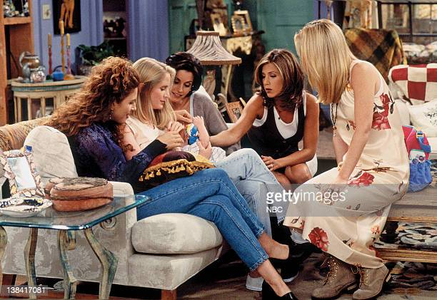 FRIENDS The One With the Breast Milk Episode 2 Pictured Jessica Hecht as Susan Bunch Jane Sibbett as Carol Willick unknown as Ben GellerWillick...