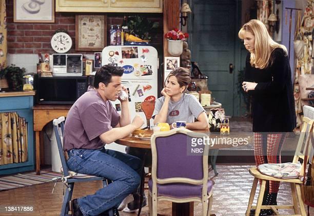 FRIENDS 'The One with the Bullies' Episode 21 Pictured Matt LeBlanc as Joey Tribbiani Jennifer Aniston as Rachel Green Lisa Kudrow as Phoebe Buffay