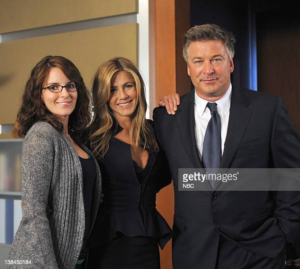 30 ROCK The One With the Cast of 'Night Court' Episode 303 Pictured Tina Fey as Liz Lemon Jennifer Aniston as Claire Harper Alec Baldwin as Jack...