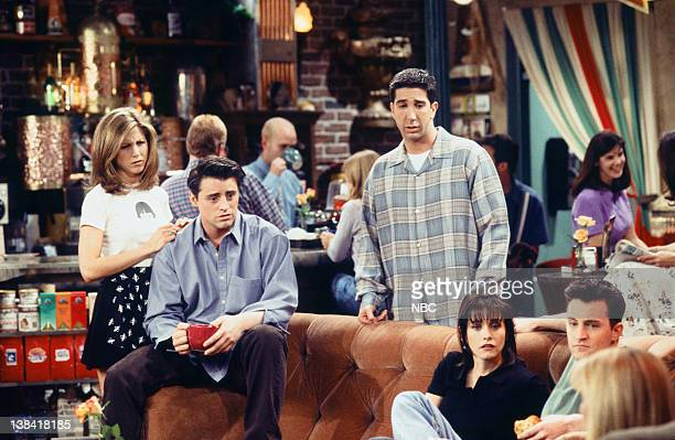 FRIENDS 'The One with the Chicken Pox' Episode 23 Air Date Pictured Jennifer Aniston as Rachel Green Matt LeBlanc as Joey Tribbiani David Schwimmer...