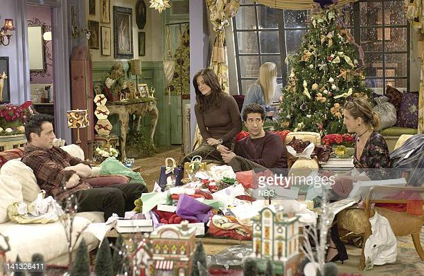 FRIENDS 'The One With The Christmas In Tulsa' Episode 10 Aired Pictured Matt LeBlanc as Joey Tribbiani Courteney CoxArquette as Monica Geller Bing...