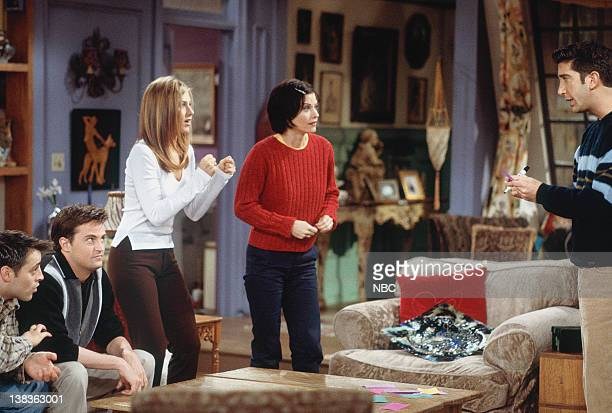 FRIENDS The One with the Embryos Episode 12 Pictured Matt LeBlanc as Joey Tribbiani Matthew Perry as Chandler Bing Jennifer Aniston as Rachel Green...
