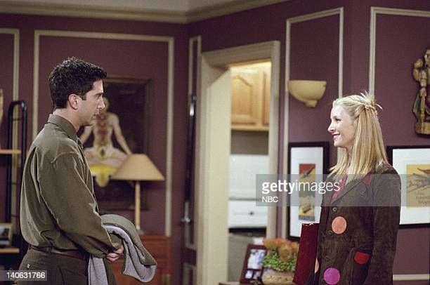 """The One With The Engagement Picture"""" -- Episode 5 -- Aired 11/2/2000 -- Pictured : David Schwimmer as Ross Geller, Lisa Kudrow as Phoebe Buffay --..."""