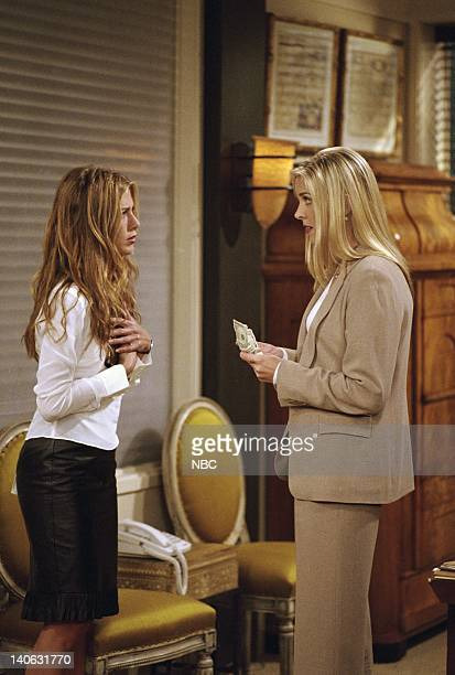 FRIENDS The One With The Engagement Picture Episode 5 Aired 11/2/2000 Pictured Jennifer Aniston as Rachel Green Heather Sims as Emily NBCU Photo Bank