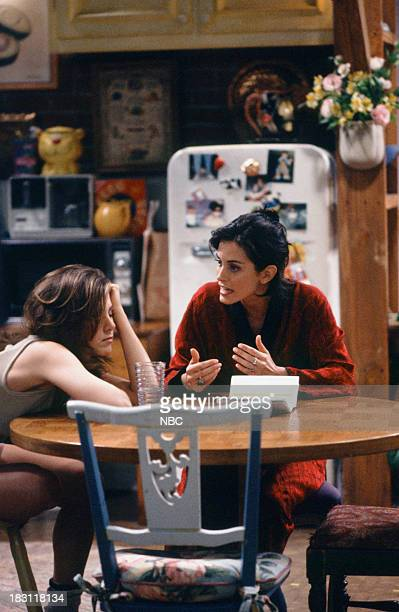 FRIENDS 'The One with the Fake Monica' Episode 121 Pictured Jennifer Aniston as Rachel Green Courteney Cox as Monica Geller