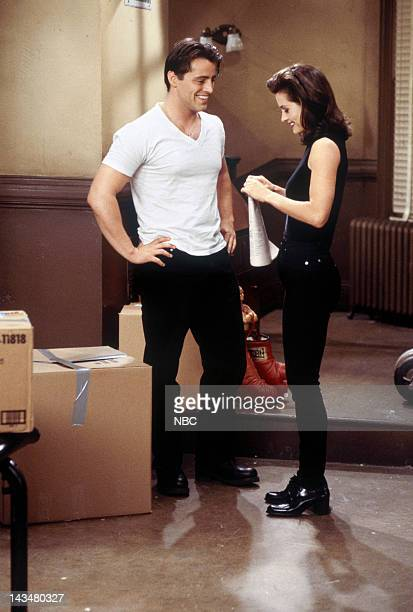 FRIENDS 'The One with the Flashback' Episode 6 Pictured Matt Le Blanc as Joey Tribbiani Courteney Cox Arquette as Monica Geller