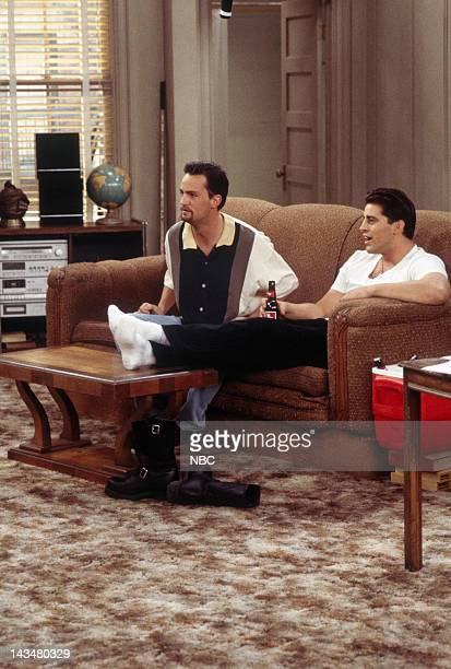 FRIENDS 'The One with the Flashback' Episode 6 Pictured Matthew Perry as Chandler Bing Matt Le Blanc as Joey Tribbiani