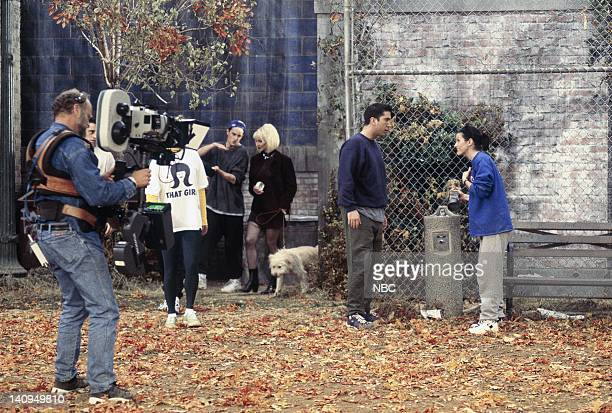 """The One with the Football"""" Episode 6 -- Pictured: David Schwimmer as Ross Geller, Courteney Cox Arquette as Monica Geller -- Photo by: Gary Null/NBCU..."""