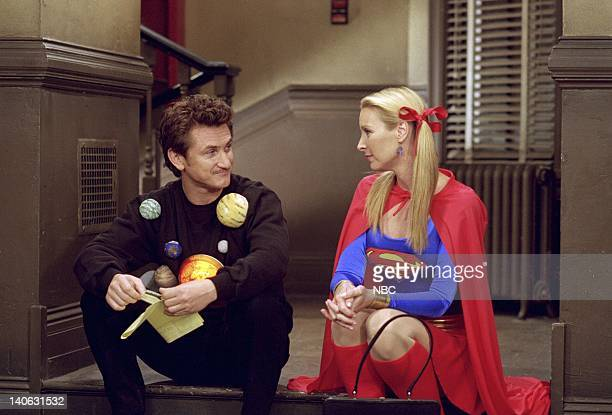 FRIENDS 'The One with the Halloween Party' Epsiode 6 Aired 11/1/2001 Pictured Sean Penn as Eric as 'The Solar System' Lisa Kudrow as Phoebe Buffay as...