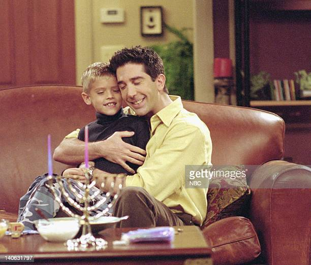 """The One with the Holiday Armadillo"""" -- Episode 10 -- Aired -- Pictured : Cole Mitchell Sprouse as Ben Geller, David Schwimmer as Ross Geller -- Photo..."""