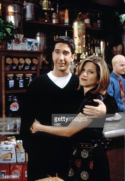 FRIENDS 'The One with the Lesbian Wedding' Episode 11 Pictured David Schwimmer as Ross Geller Jennifer Aniston as Rachel Green