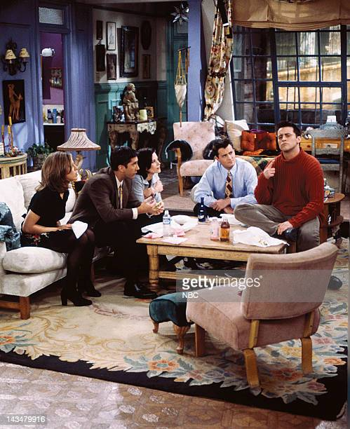 FRIENDS The One with the Lesbian Wedding Episode 11 Pictured Jennifer Aniston as Rachel Green David Schwimmer as Ross Geller Courteney Cox Arquette...