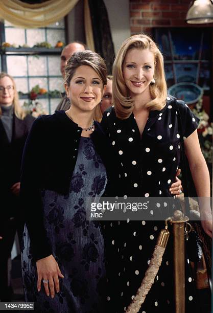 FRIENDS The One with the Lesbian Wedding Episode 11 Pictured Jennifer Aniston as Rachel Green Lisa Kudrow as Phoebe Buffay