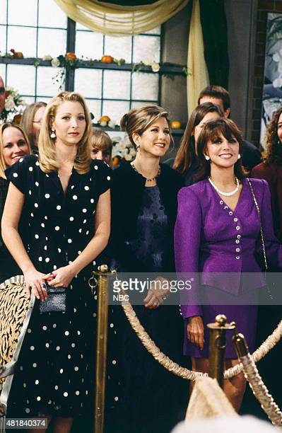 FRIENDS 'The One With the Lesbian Wedding' Episode 211 Pictured Lisa Kudrow as Phoebe Buffay Jennifer Aniston as Rachel Green Marlo Thomas as Sandra...
