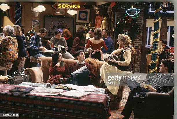 FRIENDS The One With the Monkey Episode 10 Pictured Courteney Cox as Monica Geller David Schwimmer as Ross Geller Jennifer Aniston as Rachel Green...