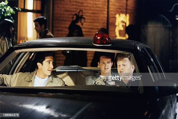 FRIENDS The One with the Ride Along Episode 20 Air Date Pictured David Schwimmer as Dr Ross Geller Matthew Perry as Chandler Bing Michael Rapaport as...