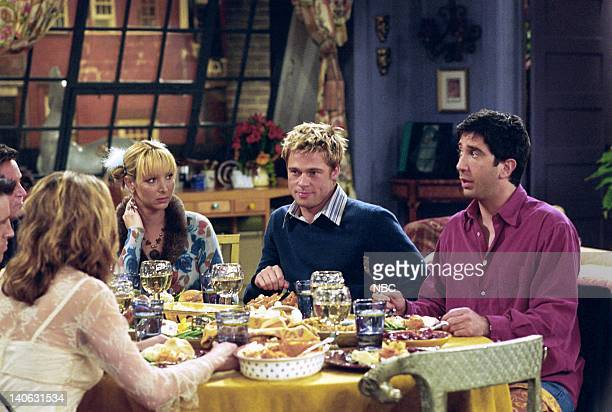 FRIENDS The One With The Rumor Episode 9 Aired Pictured Jennifer Aniston as Rachel Green Lisa Kudrow as Phoebe Buffay Brad Pitt as Will Colbert David...