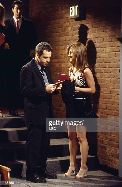 FRIENDS The One with the Screamer Episode 22 Air Date Pictured Ben Stiller as Tommy Jennifer Aniston as Rachel Green