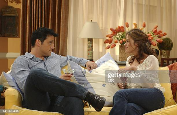 FRIENDS The One With The Sharks Episode 4 Aired Pictured Matt LeBlanc as Joey Tribbiani Susan Ward as Hayley Photo by Danny Feld/NBCU Photo Bank