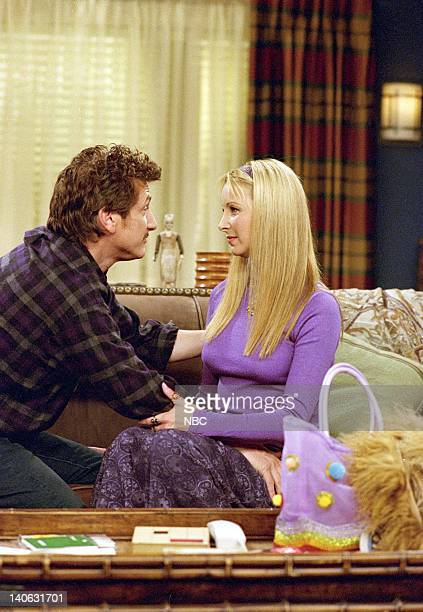 FRIENDS 'The One with the Stain' Epsiode 7 Aired 11/8/2001 Pictured Sean Penn as Eric Lisa Kudrow as Phoebe Buffay Photo by NBCU Photo Bank