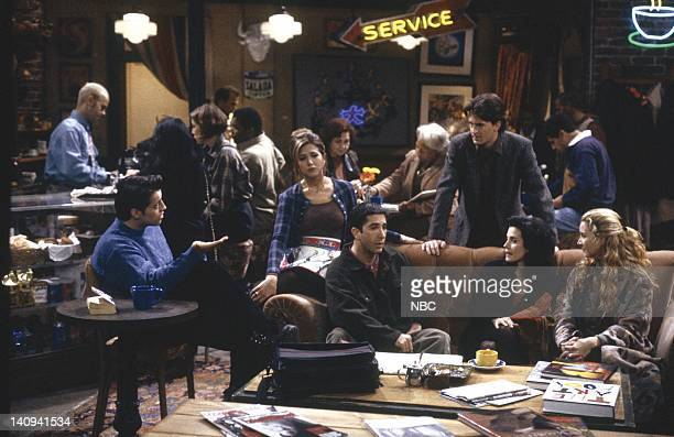 FRIENDS The One With the Stoned Guy Episode 15 Pictured James Michael Tyler as Gunther Matt LeBlanc as Joey Tribbiani Jennifer Aniston as Rachel...