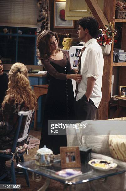 FRIENDS The One With the Stoned Guy Episode 15 Pictured Lisa Kudrow as Phoebe Buffay Jennifer Aniston as Rachel Green Matthew Perry as Chandler Bing...