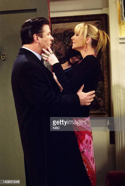 FRIENDS 'The One with the Tea Leaves' Pictured Alec Baldwin as Parker Lisa Kudrow as Phoebe Buffay Photo by NBCU Photo Bank