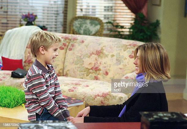 FRIENDS The One with the Truth About London Episode 16 Aired 2/22/2001 Pictured Cole Sprouse as Ben Geller Jennifer Aniston as Rachel Green
