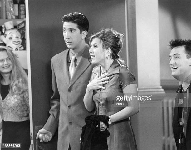 FRIENDS The One with the Two Parties Episode 22 Air Date Pictured David Schwimmer as Ross Geller Jennifer Aniston as Rachel Green Matthew Perry as...