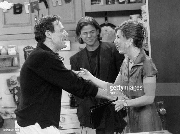 FRIENDS The One with the Two Parties Episode 22 Air Date Pictured Ron Leibman as Dr Leonard Green Jennifer Aniston as Rachel Green