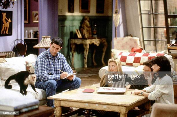 FRIENDS 'The One with Two Parts Part 1' Episode 16 Air Date Pictured Katie/Monkey as Marcel David Schwimmer as Ross Geller Lisa Kudrow as Phoebe...