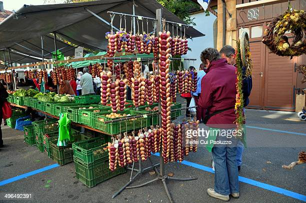 the onion festival at bern switzerland - bern stock pictures, royalty-free photos & images