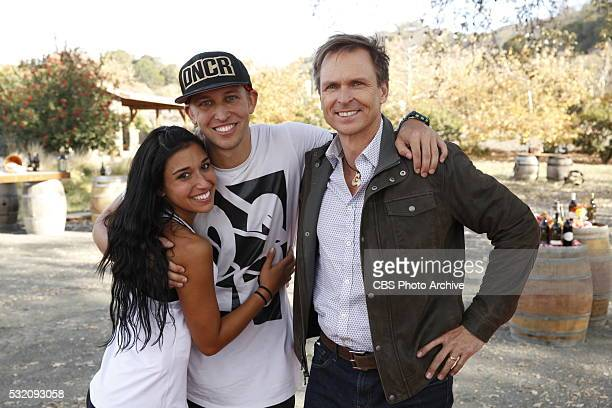 'The Only First That Matters'Host Phil Keoghan greets Dana and Matt at the finish line at the Grassini Family Vineyards in Santa Barbara California...