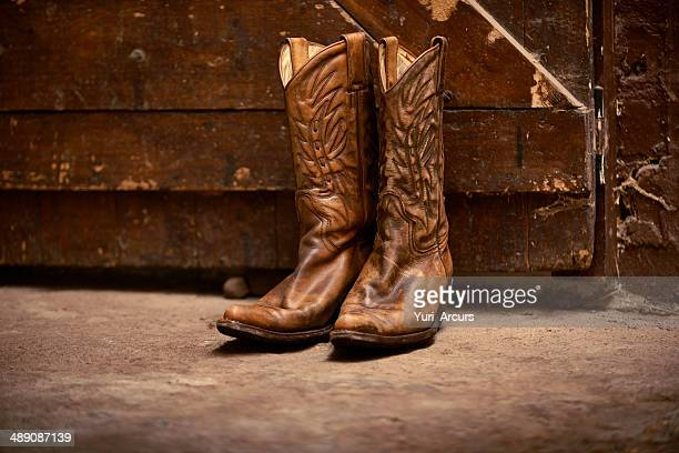 the only footwear for a cowboy - leather boot stock pictures, royalty-free photos & images