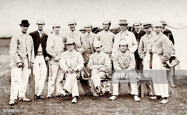 The only known photograph of The Prince of Wales later King Edward VII as a cricketing member of the Bullingdon Club at Oxford University circa 1862...