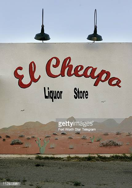 The only liquor store in Marfa Texas El Cheapo even has an artistic flare