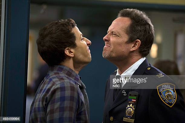 NINE The Oolong Slayer Episode 303 Pictured Andy Samberg as Jake Peralta Dean Winters as The Vulture