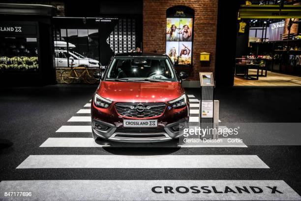 The Opel Cross Land X on display at the 2017 Frankfurt Auto Show 'Internationale Automobil Ausstellung' on September 13 2017 in Frankfurt am Main...