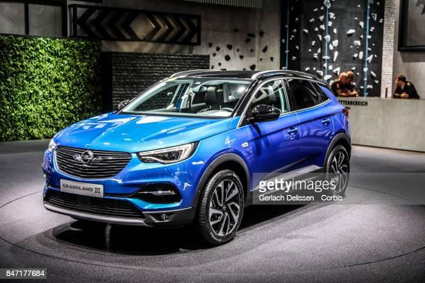 The Opel Grand Land X on display at the 2017 Frankfurt Auto Show 'Internationale Automobil Ausstellung' on September 13 2017 in Frankfurt am Main...