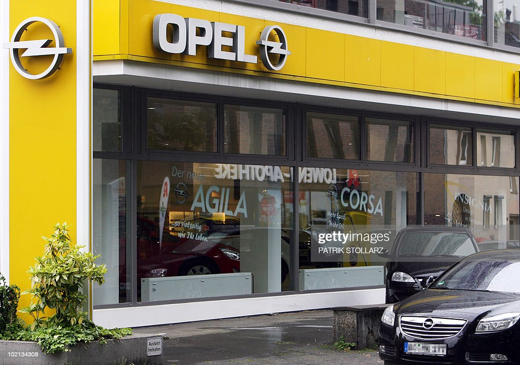 The Opel logo can be seen at an Opel dealership in the western German city of Bochum on June 8, 2009. The German government is meeting with the fund set up to help enterprises to discuss aid for troubled automaker Opel on June 9, 2010.