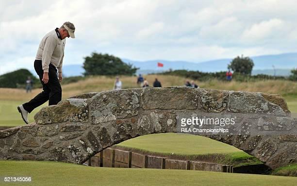 the Open Championship St Andrews golf course July 2010 MONTGOMERIE dejected crosses the Swilken bridge