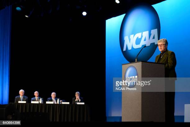The Opening Business Session at the 2013 NCAA Convention held at the Gaylord Texan in Grapevine TX Stephen Nowland/NCAA Photos via Getty...