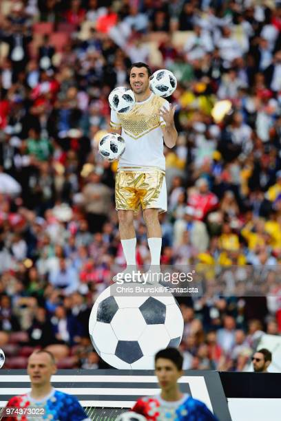 The opening ceremony before the 2018 FIFA World Cup Russia group A match between Russia and Saudi Arabia at Luzhniki Stadium on June 14 2018 in...