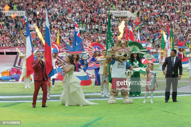 the Opening ceremony FIFA World Cup 2018 before the group A match between Russia and Saudi Arabia at the 2018 soccer World Cup at Luzhniki stadium in...