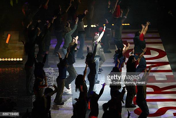 The opening ceremony for the annual Hillsong convention held at the Sydney Superdome at Homebush Bay tonight 4 July 2005 SMH Picture by WADE LAUBE