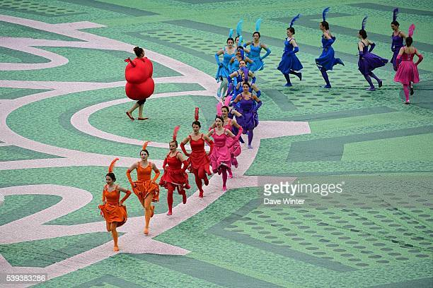 The Opening Ceremony of European Championship 2016 at Stade de France on June 10 2016 in Paris France