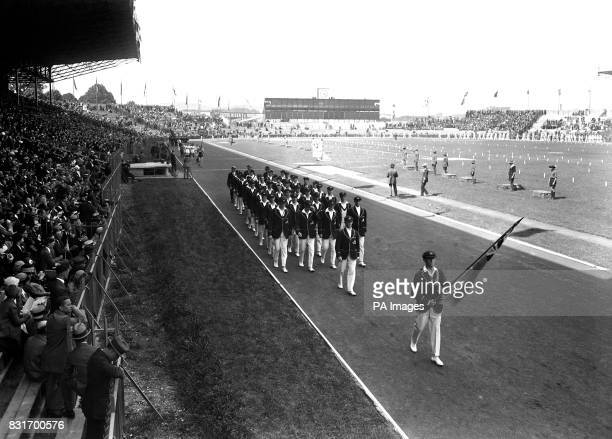 The opening ceremony of the 1924 Olympic Games.